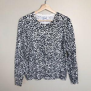 OLD NAVY Dalmatian Print Cardigan Sweater Buttons